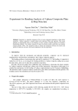 "Báo cáo ""  Experiment for Bending Analysis of 3-phase Composite Plate in Ship Structure """