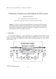 "Báo cáo "" Verification of hazard, race and deadlock in GALS-circuit """