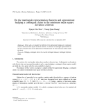 "Báo cáo "" On the martingale representation theorem and approximate hedging a contingent claim in the minimum mean square deviation criterion  """