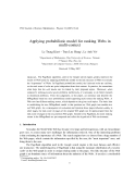 "Báo cáo ""Applying probabilistic model for ranking Webs in multi-context """