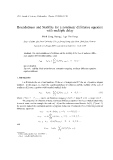 """Báo cáo """" Boundedness and Stability for a nonlinear difference equation with multiple delay """""""