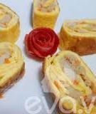 Trứng cuộn cồi sò điệp