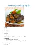 Thịt bò cuộn cà rốt đầy hấp dẫn