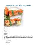 Sushi bò lát cuộn mầm rau muống