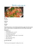 Thịt bò cuộn rau củMức độ: Trung bình Chuẩn bị: 10 phút Chế biến: 15 phút
