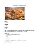 Thịt bò cuộn cà rốt