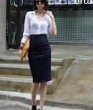 Bí kíp gây ấn tượng với chân váy bút chì