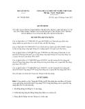 Quyết định số 749/QĐ-BXD
