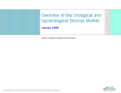 Overview of the Urological and  Gynecological Devices Market