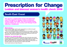 Prescription for Change - Lesbian and bisexual women's health check 2008