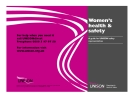 Women's health & safety: A guide for UNISON safety representatives