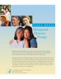 F acts About Menopausal Hormone Therapy