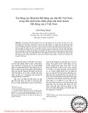 """Báo cáo """" Tác động của Hiệp hội Bất động sản nhà đất Việt Nam trong tiến trình hoàn thiện pháp luật kinh doanh Bất động sản ở Việt Nam """""""