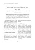 """Báo cáo """" Một số vấn đề về cơ cấu công nghiệp Việt Nam """""""