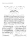 """Báo cáo """" Một số vấn đề pháp lý về phân cấp quản lý Ngân sách Nhà nước ở Việt Nam trong giai đoạn hiện nay """""""