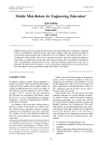 mobile mini robots for engineering, Vol.6, No.1 Published in Australia© 2002