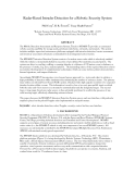 Radar-Based Intruder Detection for a Robotic Security System Phil Corya, H. R. Everettb, Tracy Heath