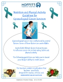 Nutrition and Physical Activity Guidelines for Gynecological Cancer Survivors
