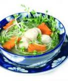 Canh cải mầm nấu giò sống