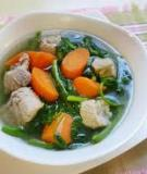 Canh cải xoong nấu cua