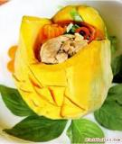 Đùi gà hầm bí đỏ nước cốt dừa cay