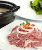 Lẩu thịt bò nấu mẻ