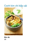 Canh kim chi bắp cải
