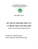 Tiểu luận: Kỹ thuật sinh học phân tử và bệnh viêm não xốp ở bò
