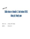 Tiểu luận:Chuẩn đoán vi khuẩn E.Coli nhóm SIEC bằng kỹ thuật gen