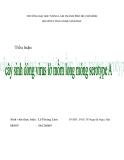 Tiểu luận:Cây sinh dòng virus lở mồm long móng serotybe A