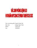 Tiểu luận:Vacxin phòng bệnh do vi khuẩn Mycobacterium tuberculosis