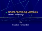 Radar Absorbing Materials