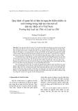 """Báo cáo """" Quy định về quan hệ sở hữu tài nguyên thiên nhiên và môi trường trong luật tục của một số dân tộc thiểu số ở Việt Nam """""""