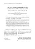 """Báo cáo """" Văn hóa và lối sống của thanh niên Việt Nam trong bối cảnh toàn cầu hóa và hội nhập quốc tế: một số vấn đề về khái niệm và cách tiếp cận """""""