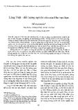 """Báo cáo """" Làng Việt – đối tượng nghiên cứu của khu vực học"""""""
