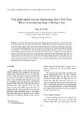 """Báo cáo """" Góp phần nghiên cứu tục nhuộm răng đen ở Việt Nam (Khảo sát trường hợp làng cổ Đường Lâm) """""""