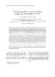 """Báo cáo """"  Tổ chức hành chính và quy hoạch đô thị Thăng Long - Hà Nội thế kỷ XI - XIV """""""