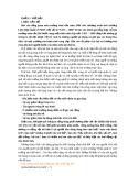 Đề tài: Những hình thức cơ bản trong quản lý môi trường ở Việt Nam