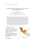 "Báo cáo ""Assessment of climate change impacts on water resources in Hong-Thai Binh river basin """