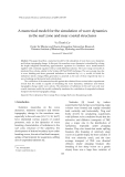 """Báo cáo """" A numerical model for the simulation of wave dynamics   in the surf zone and near coastal structures  """""""