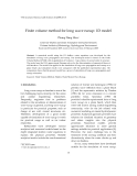 "Báo cáo "" Finite volume method for long wave runup: 1D model """