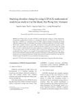 "Báo cáo "" Studying shoreline change by using LITPACK mathematical  model (case study in Cat Hai Island, Hai Phong City, Vietnam)  """