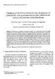 "Báo cáo "" Changing of shoreline during the Late Quatemary in relationship with geodynamics and their affect to the coastal environment of the Red River """