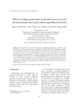 """Báo cáo """" Effects of using wastewater as nutrient sources on soil  chemical properties in peri‐urban agricultural systems  """""""