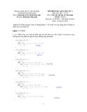 Đề kiểm tra giữa học kì 1, môn : Cấu trúc dữ liệu và giải thuật