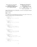 Đề kiểm tra giữa học kỳ 1, môn : Cấu trúc dữ liệu và giải thuật
