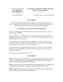 TỔNG CỤC HẢI QUAN CỤC HẢI QUAN TỈNH THANH HÓA ------Số: 491/QĐ-HQTHCỘNG HÒA XÃ