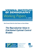 The Reproductive Value in Distributed Optimal Control Models