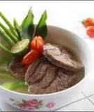 Bắp bò hầm măng tây cà chua bi