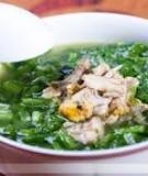Cá rô đồng nấu canh rau cải